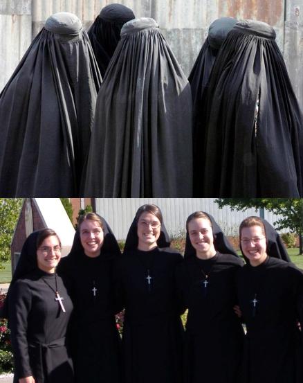 Islamic Hijabs and Nuns Habits